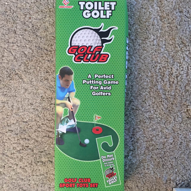 Kit golf toilette