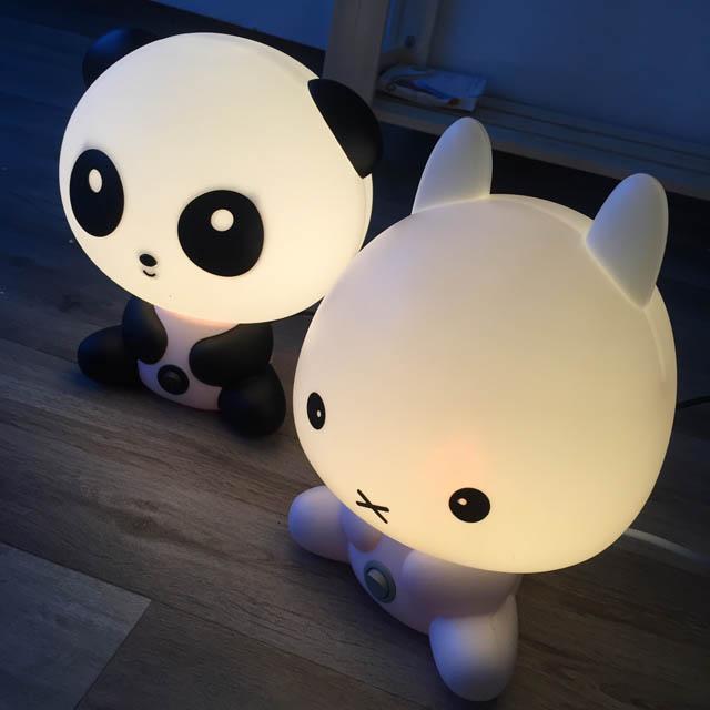 Lampe panda lapin
